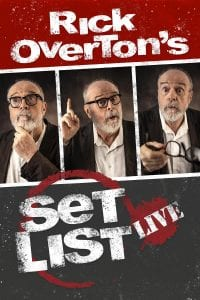 COMEDY DYNAMICS TO RELEASE RICK OVERTON'S SET LIST LIVE